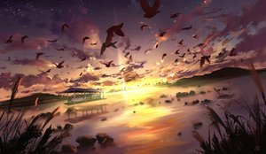 Rating: Safe Score: 199 Tags: animal bird clouds landscape mikan_121 nobody original scenic sky sunset water User: Flandre93