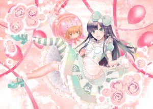 Rating: Safe Score: 20 Tags: alice_in_wonderland black_hair bow braids cheshire_cat chibi cosplay dress flowers green_eyes lolita_fashion long_hair original ribbons rose tagme_(artist) User: BattlequeenYume