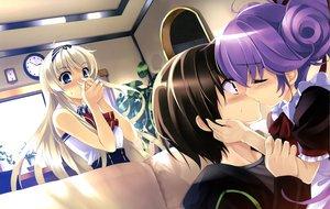 Rating: Safe Score: 120 Tags: blush boku_to_kanojo_ni_furuyoru kiss misaki_kurehito User: Wiresetc