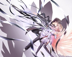 Rating: Safe Score: 131 Tags: guilty_crown ouma_shu wingheart yuzuriha_inori User: Wiresetc