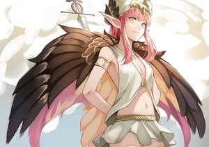 Rating: Safe Score: 37 Tags: breasts circe_(fate/grand_order) cleavage fate/grand_order fate_(series) headdress navel pink_hair pointed_ears skirt tagme_(artist) wings User: otaku_emmy
