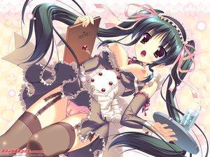 Rating: Questionable Score: 349 Tags: amakawa_akito breasts cameltoe galge.com logo long_hair maid nipples panties stockings thighhighs underwear waitress User: Kamina_Aniki