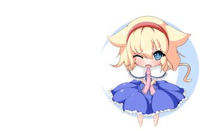 Rating: Safe Score: 39 Tags: alice_margatroid animal_ears chibi shirogonn tail touhou User: SciFi