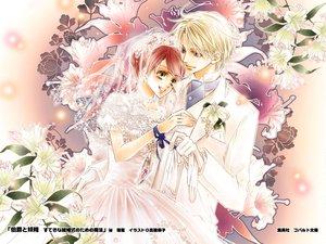 Rating: Safe Score: 15 Tags: edgar_ashenbert hakushaku_to_yousei lydia_carlton male wedding wedding_attire User: Tensa