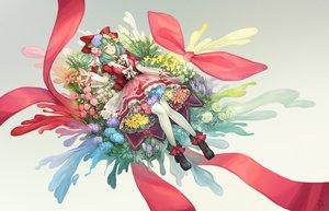 Rating: Safe Score: 37 Tags: bow dress flowers green_eyes green_hair kagiyama_hina pantyhose ribbons short_hair tagme_(artist) touhou User: RyuZU