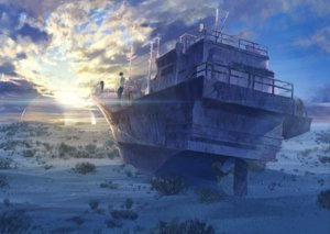 Rating: Safe Score: 46 Tags: boat clouds dress male original ruins sawasawa sky summer_dress sunset User: luckyluna