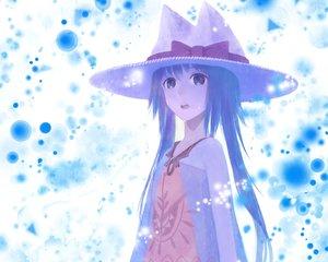 Rating: Safe Score: 79 Tags: blue_hair bou_nin bow cropped hat original User: mattiasc02
