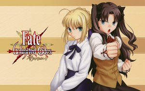 Rating: Safe Score: 14 Tags: fate/stay_night fate/unlimited_codes saber tohsaka_rin User: rargy