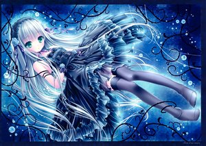 Rating: Safe Score: 208 Tags: blue_hair bubbles dress gloves gothic goth-loli green_eyes headdress lolita_fashion long_hair ribbons scan thighhighs tinkerbell tinkle User: gnarf1975