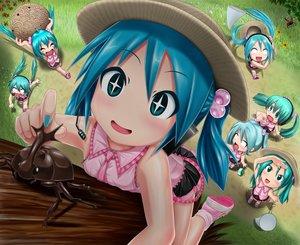 Rating: Safe Score: 92 Tags: hatsune_miku kazu-chan long_hair twintails vocaloid User: luckyluna
