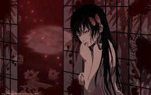 Rating: Questionable Score: 68 Tags: black_hair blood butterfly enma_ai flowers jigoku_shoujo long_hair nude red_eyes User: mikico