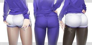 Rating: Questionable Score: 109 Tags: ass ass_grab close jay_(shining_star) ohisashibu pantyhose shining_star shorts signed User: RyuZU