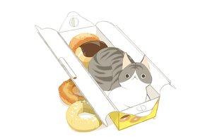Rating: Safe Score: 16 Tags: animal cat chai_(artist) food nobody original polychromatic signed white User: otaku_emmy