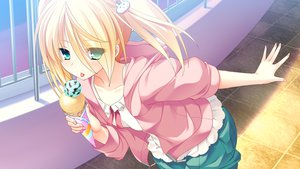 Rating: Safe Score: 145 Tags: blonde_hair game_cg green_eyes ice_cream lovera_bride mutou_kurihito yuuki_nao_(lovera_bride) User: opai