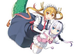 Rating: Safe Score: 82 Tags: kamui_kanna kantoku kobayashi-san_chi_no_maid_dragon loli photoshop tooru_(maidragon) white User: RyuZU