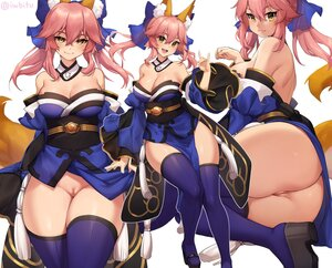 Rating: Explicit Score: 93 Tags: animal_ears ass breasts cleavage fate/grand_order fate_(series) iwbitu japanese_clothes long_hair nopan pink_hair pussy signed skirt_lift tail tamamo_no_mae_(fate) thighhighs twintails uncensored yellow_eyes User: BattlequeenYume