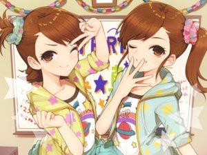 Rating: Safe Score: 45 Tags: futami_ami futami_mami hitoto idolmaster twins User: FormX