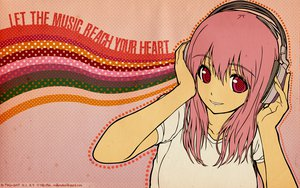 Rating: Safe Score: 90 Tags: headphones nitroplus pink_hair signed sonico super_sonico watermark User: 秀悟