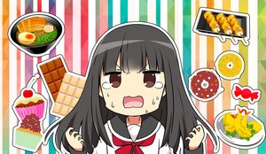 Rating: Safe Score: 12 Tags: black_hair brown_eyes cake candy chijou_noko chikanoko chocolate close food long_hair ragho_no_erika seifuku tears User: RyuZU