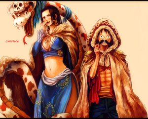 Rating: Safe Score: 34 Tags: boa_hancock monkey_d_luffy one_piece tsuyomaru User: FormX