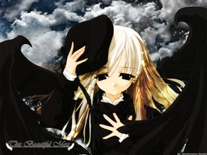 Rating: Safe Score: 6 Tags: blonde_hair hat sasaki_mutsumi wings User: acucar11