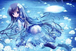 Rating: Questionable Score: 340 Tags: blue blue_eyes blue_hair harukaze_setsuna loli lolita_fashion long_hair panties scan see_through tinkerbell tinkle underwear water wet User: FormX