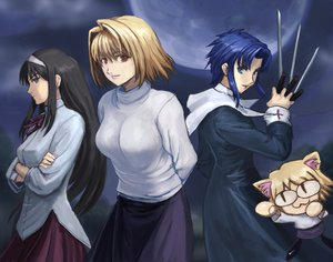 Rating: Questionable Score: 12 Tags: arcueid_brunestud ciel neko-arc shingetsutan_tsukihime User: KOCT9_CbIPKOB