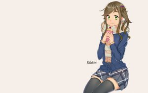 Rating: Safe Score: 26 Tags: brown_hair dahadekan food green_eyes inuyama_aoi long_hair ponytail scarf school_uniform signed skirt thighhighs yuru_camp User: RyuZU
