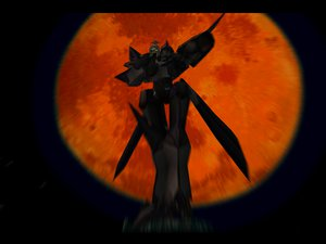 Rating: Safe Score: 12 Tags: armor hat mecha night planet robot space xenogears User: Oyashiro-sama