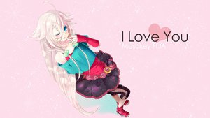 Rating: Safe Score: 115 Tags: 1hayu blonde_hair blue_eyes ia pink vocaloid wink User: FormX