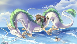 Rating: Safe Score: 45 Tags: dragon ogino_chihiro spirited_away water watermark User: BoobMaster