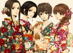 Rating: Safe Score: 79 Tags: animal cat japanese_clothes kimono ma06mo original User: opai