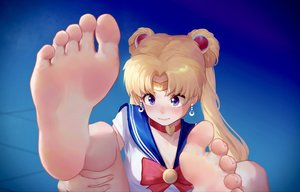 Rating: Safe Score: 57 Tags: barefoot blonde_hair blue_eyes choker close headband ice_(dzs1392584271) long_hair sailor_moon sailor_moon_(character) school_uniform tsukino_usagi twintails User: FormX