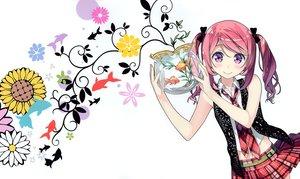 Rating: Safe Score: 129 Tags: 5_nenme_no_houkago animal blush bow fish kantoku kurumi_(kantoku) navel original pink_hair purple_hair skirt tie twintails white User: Wiresetc