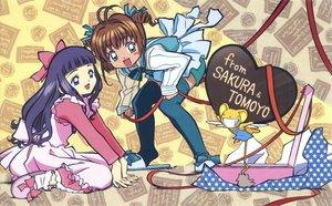 Rating: Safe Score: 6 Tags: card_captor_sakura clamp daidouji_tomoyo kero kinomoto_sakura scan User: RyuZU