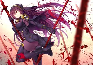 Rating: Safe Score: 97 Tags: armor ass blood bodysuit breasts emanon123 fate/grand_order fate_(series) headdress long_hair purple_hair red_eyes scathach_(fate/grand_order) spear weapon User: BattlequeenYume
