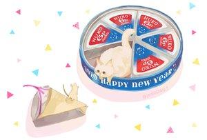Rating: Safe Score: 34 Tags: animal cat food hakuchizu_(jedo) mouse nobody original watermark User: otaku_emmy