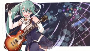 Rating: Safe Score: 27 Tags: blush elbow_gloves glasses gloves green_eyes green_hair guitar instrument kagura_suzu .live long_hair ponytail tagme_(artist) thighhighs User: RyuZU