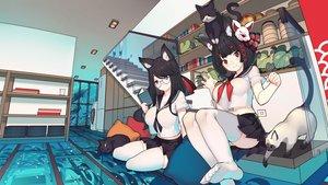 Rating: Safe Score: 106 Tags: 2girls animal animal_ears anthropomorphism azur_lane cat catgirl fusou_(azur_lane) rain_lan school_uniform yamashiro_(azur_lane) User: BattlequeenYume