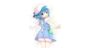 Rating: Safe Score: 55 Tags: aqua_eyes aqua_hair bloomers bow cirno dress fairy flowers hat loli pointed_ears seifuku shinoba short_hair touhou white wings User: luckyluna