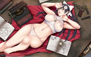 Rating: Questionable Score: 241 Tags: breasts brown_eyes gun himeno_yuria lewdness_vita_sexualis nipples sei_shoujo weapon User: kowarenai