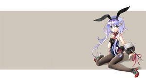 Rating: Safe Score: 45 Tags: anthropomorphism blue_eyes blush bow bunny_ears bunnygirl collar flowers headdress kantai_collection katahira_masashi long_hair pantyhose purple_hair ribbons tail wristwear yayoi_(kancolle) User: kokiriloz