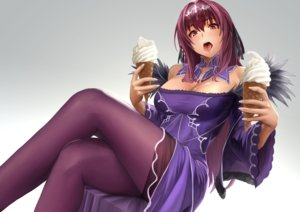 Rating: Safe Score: 30 Tags: breasts cleavage dress fate/grand_order fate_(series) gradient headdress ice_cream long_hair pantyhose purple_hair red_eyes scathach_(fate/grand_order) yamaneko User: RyuZU