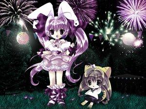 Rating: Safe Score: 3 Tags: bunny_ears chibi di_gi_charat fireworks puchiko usada_hikaru User: Zdenek