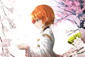 Rating: Safe Score: 24 Tags: flowers green_eyes hoshizora_rin love_live!_school_idol_project orange_hair orein petals short_hair User: RyuZU