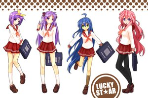 Rating: Safe Score: 72 Tags: blue_eyes blue_hair glasses green_eyes hiiragi_kagami hiiragi_tsukasa izumi_konata kneehighs ld_(bearbellld) logo long_hair lucky_star pantyhose purple_eyes purple_hair red_hair school_uniform short_hair takara_miyuki white User: HawthorneKitty