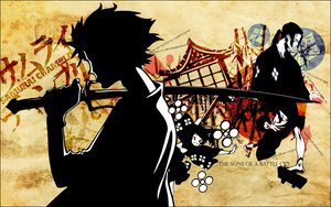 Rating: Questionable Score: 20 Tags: fuu jin mugen samurai_champloo sword weapon User: Mund
