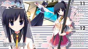 Rating: Safe Score: 16 Tags: black_hair blue_eyes calendar long_hair ponytail sakura_no_sora_to_kimi_no_koto school_uniform setouchi_nagisa tsukinon User: oranganeh