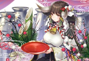 Rating: Safe Score: 53 Tags: animal_ears bell brown_eyes brown_hair cowgirl cropped drink horns japanese_clothes kimono long_hair ne-on original rope sake User: BattlequeenYume