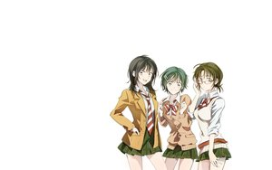 Rating: Safe Score: 57 Tags: black_hair bow brown_eyes brown_hair coppelion fukasaku_aoi glasses gray_eyes green_eyes green_hair naruse_ibara nomura_taeko penki seifuku short_hair skirt tie white User: Tensa